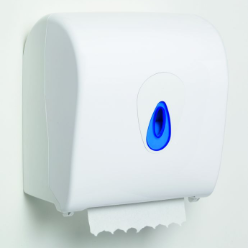 Auto cut hand towel dispenser is ideal for environments where hygiene is paramount. The system delivers premeasured flat sheets of paper towel ready to use, minimizing the risk of cross contamination as only the paper is touched not the dispenser.