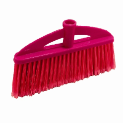 Broom soft v shape with wooden stick