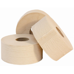 This toilet paper boasts a traditional brown color and pleasing textured print that's sure to leave your patrons feeling fresh and clean after every use. Providing both strength and absorbency, this paper is ideal for use in your high-volume establishment