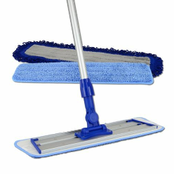 Flat mops are convenient to use when you need to mop without using too much water. Most people who purchase flat mops will use just a little bit of cleaning solution and mop their floor with it