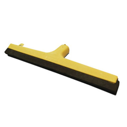 A squeegee is a tool with a flat, smooth rubber blade, used to remove or control the flow of liquid on a flat surface. It is used for cleaning and in printing.