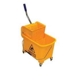 Heavy duty mop squeezer bucket