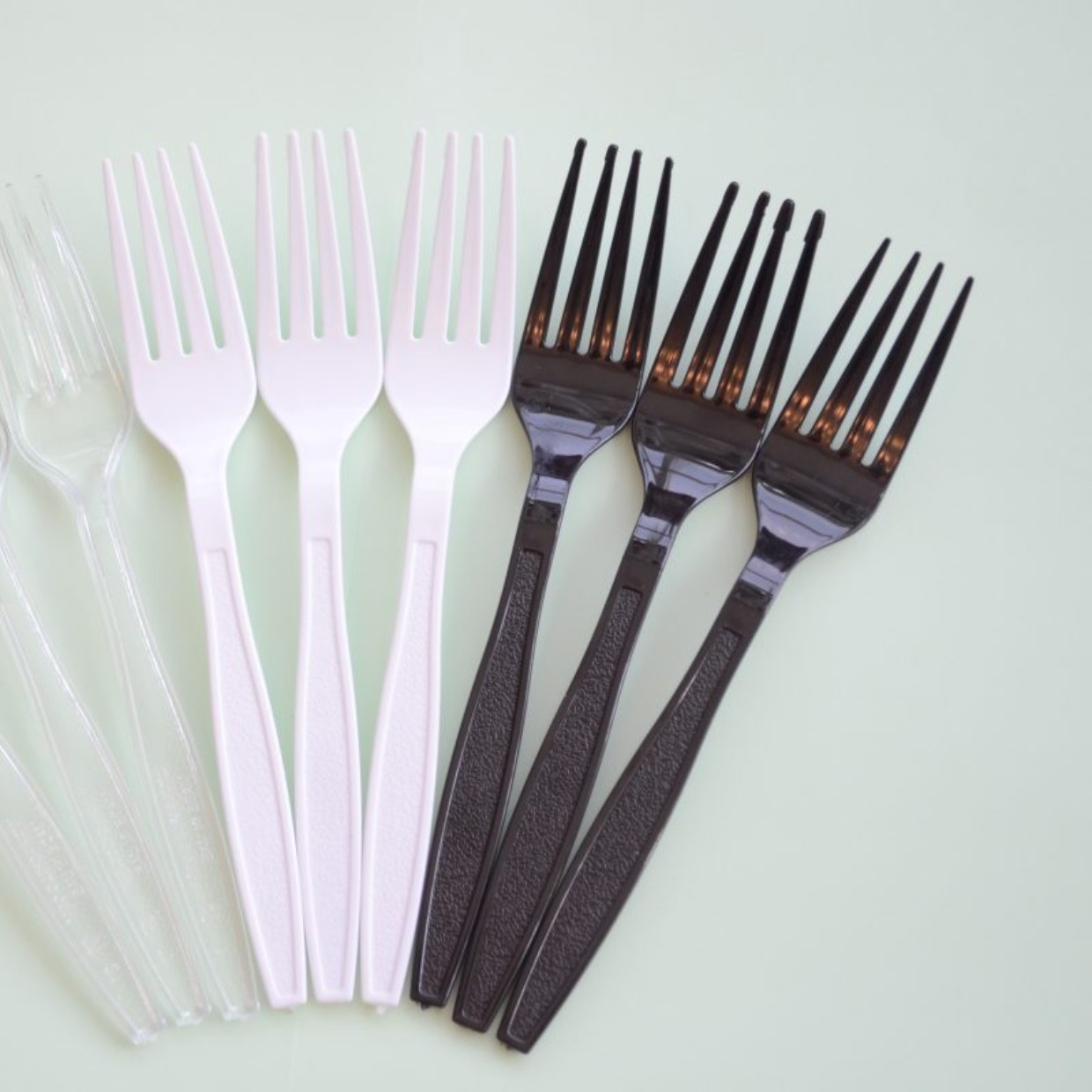 Plastic fork white color