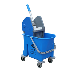 Single Bucket Trolley blue color, Easily movable, perfect cleaning, noise-free performance, Perfect for hygienic and healthy cleaning of home, offices, hospitals, shops