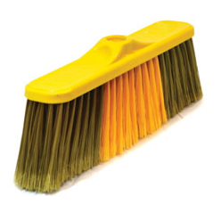 "Soft brooms are used in some cultures chiefly for sweeping walls of cobwebs and spiders, like a ""feather duster"", with hard brooms are for rougher tasks like sweeping dirt off sidewalks or concrete floors, or even smoothing and texturing wet concrete."