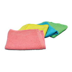 Terry cloth is a cotton fabric with absorbent loops over the entire fabric surface. It has traditionally been used for towels, but it has many other uses as well. Versatile terry cloth can be used to make bathrobes and swimsuit cover-ups. It is ideal for a comfy hooded towel-robe to wrap baby up after a bath
