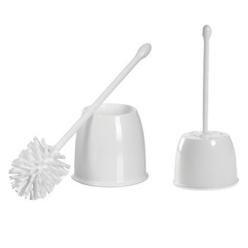 A toilet brush is a tool for cleaning a toilet bowl Generally the toilet brush is used with toilet cleaner or bleach. The toilet brush can be used to clean the upper area of the toilet, around the bowl