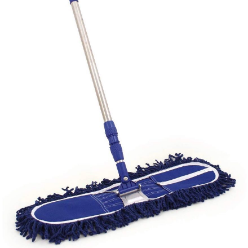 Mop is piece of cloth, sponge or other absorbent material, attached to a pole or stick. It is used to soak up liquid, for cleaning floors and other surfaces, to mop up dust, or for other cleaning purposes.