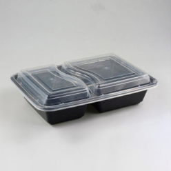 black base container with compartment
