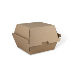 Our burger boxes are intended for takeaway and delivery and that they are perfect for shipping hot burger or the other circular-formed nourishment from the eating eatery to the client. The endorsed nourishment grade paper blend of the bundling forestalls oil stains, retains the heat, and absorbs moisture