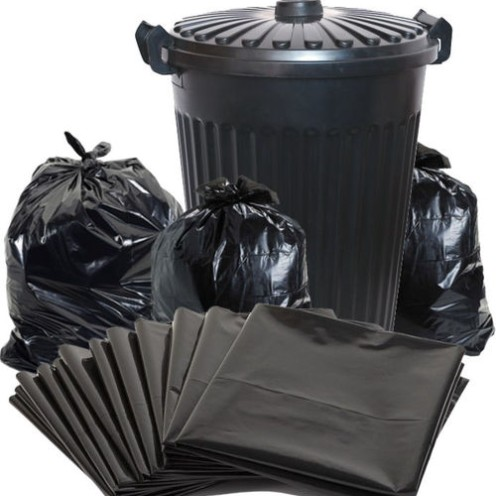 black garbage bag heavy duty