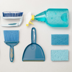 Household cleaning products include all-purpose cleaners, polishes, wipes and dust-removal products. The regular use of these products extends the life of your furniture, flooring and appliances as well as keeping them clean and fresh-smelling.