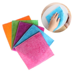 They are capable of absorbing, but they are also used to wipe up spills, clean off cutting boards, dry dishes, dry hands, and even hold hold hot plates and dishes. These towels are generally made of cotton, making them soft enough to absorb, but durable enough to withstand repeated uses and washings.