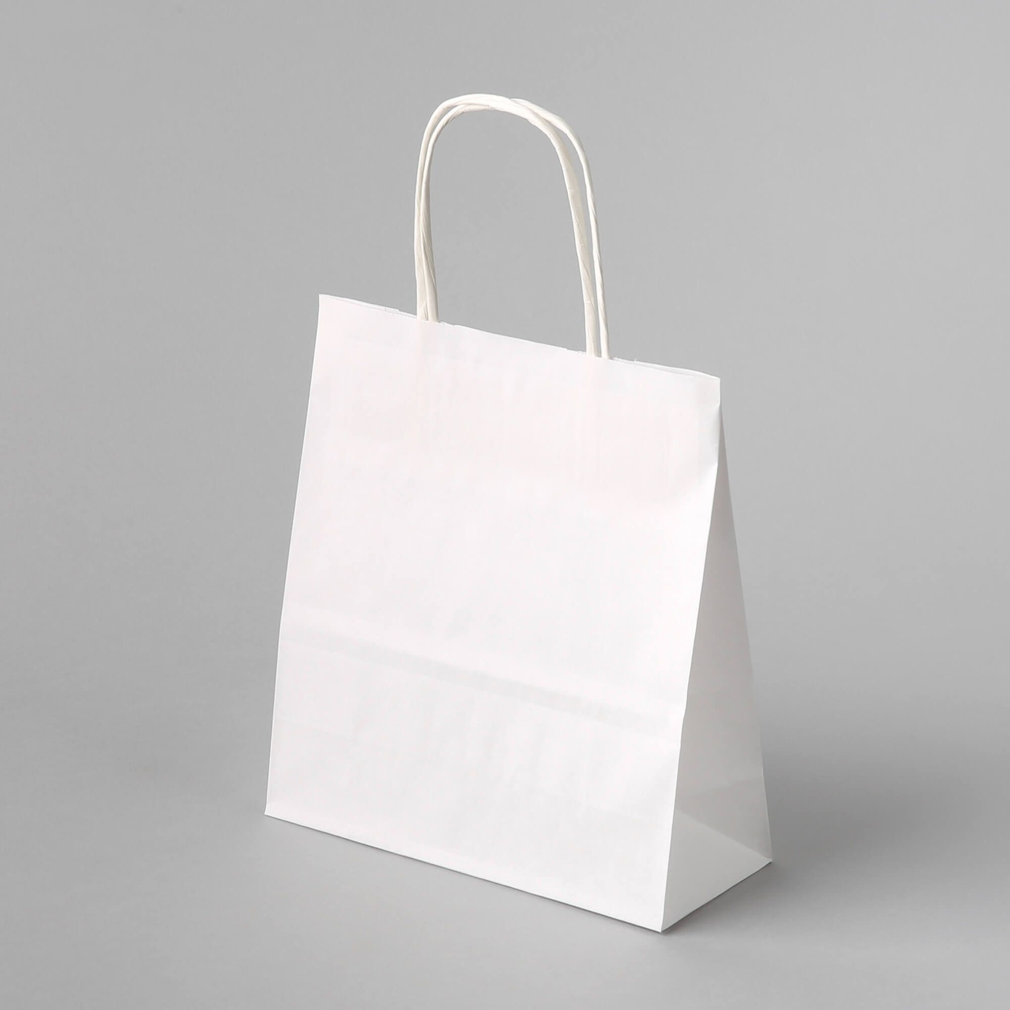 paper bag white with twisted handle