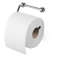 Toilet paper is a tissue paper product primarily used to clean the anus and surrounding area of feces after defecation and to clean the perinea area of urine after urination or other bodily fluid releases. It also acts as a layer of protection for the hands during these processes