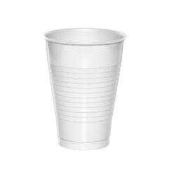 plastic cup white